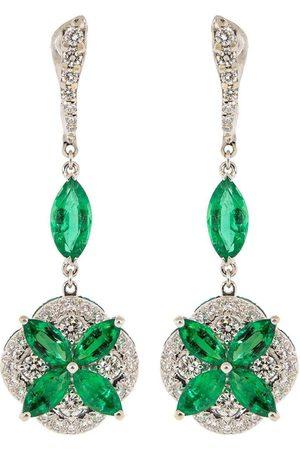 SABOO FINE JEWELS Emerald and Diamond Drop Earrings
