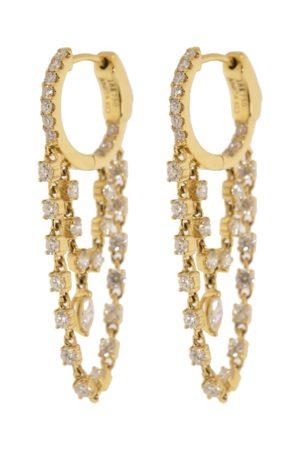 Anita Double Chain Diamond Huggies