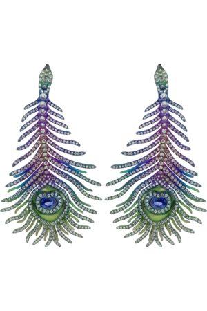 SABOO FINE JEWELS Elemento Peacock Feather Earrings