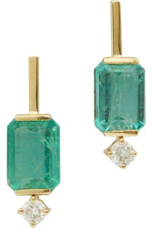 Yi Collection Emerald & Diamond Awakening Earrings