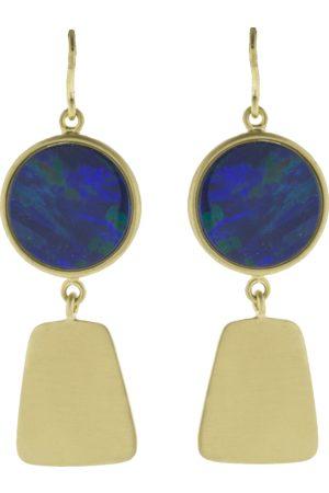 Sylva & Cie Maya Collection Opal Earrings