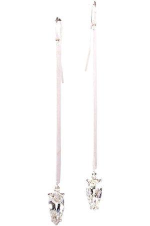 Sylva & Cie Pear Shape Diamond Stick Earrings