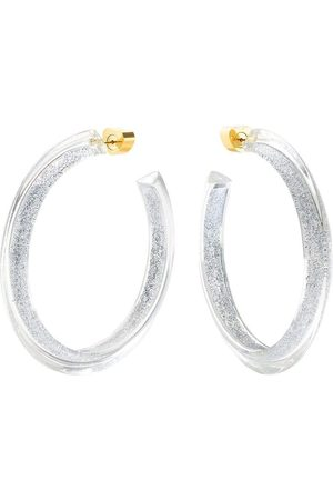 ALISON LOU Medium Silver Glitter Jelly Hoops