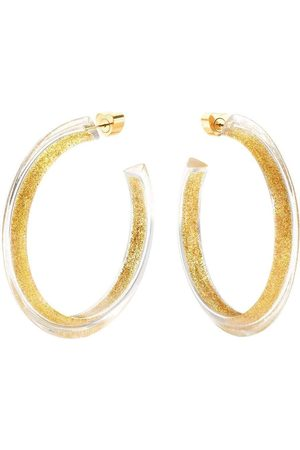 ALISON LOU Medium Glitter Jelly Hoops
