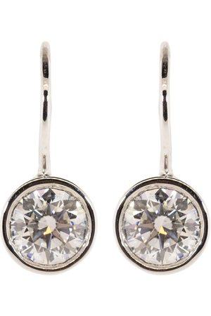 Kwiat White Gold Bezel Set Diamond Drop Earrings