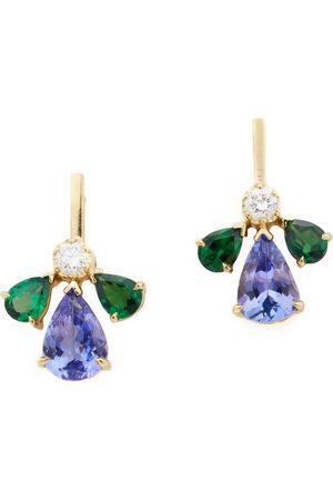 Yi Collection Tsavorite & Tanzanite Fauna Earrings