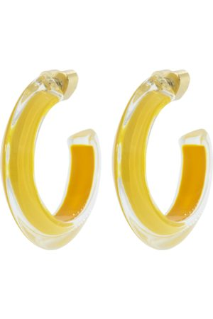 ALISON LOU Women Earrings - Small Mustard LOUcite Jelly Hoops