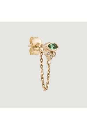 Celine d'Aoust Women Earrings - Emerald Marquise > diamonds dangling earring Yellow