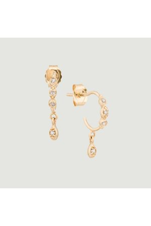 Celine d'Aoust Eye and diamonds hoop earrings Yellow
