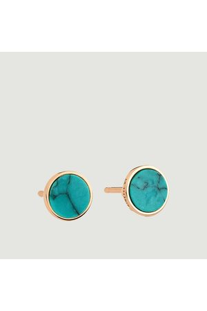 GINETTE NY Ever Disc earrings Turquoise