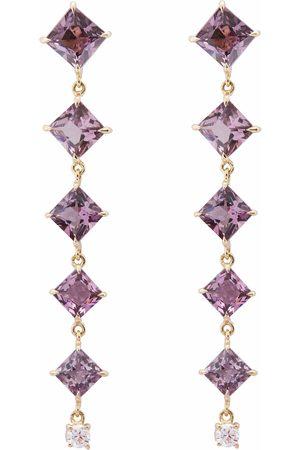 Yi Collection Women Earrings - Spinel & Diamond Cascade Earrings