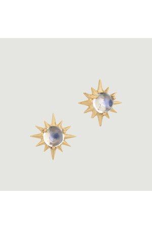 Celine d'Aoust Sun Moonstone stud earrings Yellow
