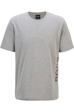 HUGO BOSS IDENTITY T SHIRT Grey Stretch-Cotton Pyjama T-shirt with Vertical Logo 50442645