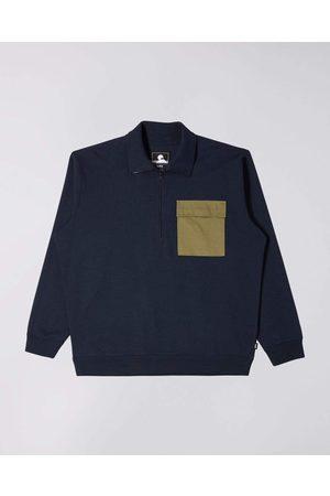 Edwin Raid 1/4 Zip Sweatshirt - Navy