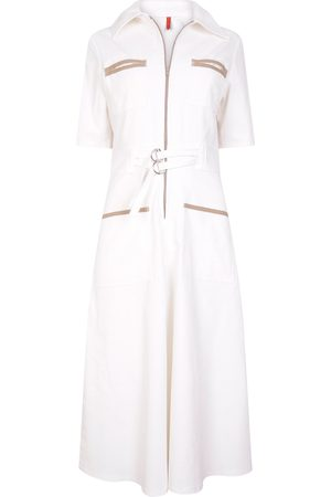 The West Village Cord Shirt Dress Ecru