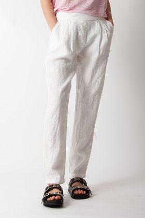 Sita Murt Women Jeans - Linen Pleated Pants in White