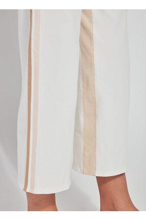 Lysse Lyss Opal Wide Leg Crop Trouser - Off with Trim