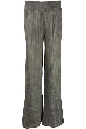 MICHAEL STARS Gauze Wide Leg Pant Olive