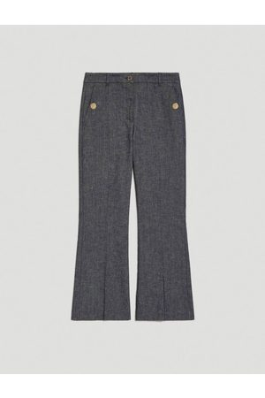 pennyblack Linen and cotton Cropped Trousers
