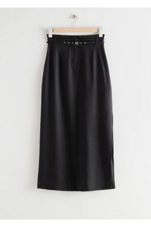 & OTHER STORIES Belted Straight Midi Skirt