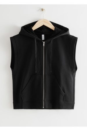 & OTHER STORIES Boxy Sleeveless Zip Hoodie