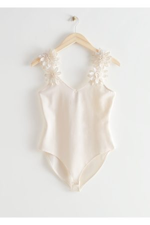 & OTHER STORIES Floral Applique Bodysuit
