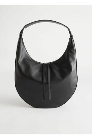 & OTHER STORIES Rounded Leather Shoulder Bag