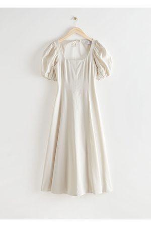 & OTHER STORIES Women Midi Dresses - Open Back Puff Sleeve Midi Dress