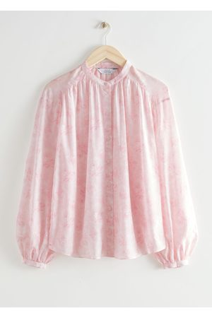 & OTHER STORIES Floral Print Silk Blend Blouse
