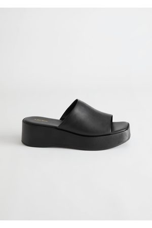 & OTHER STORIES Women Platform Sandals - Leather Platform Sandals