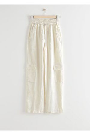 & OTHER STORIES Wide Utility Pocket Linen Trousers