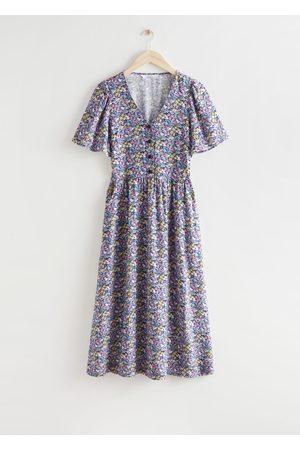 & OTHER STORIES Flutter Sleeve Maxi Dress