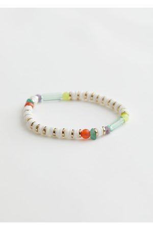 & OTHER STORIES Beaded Shell Charm Bracelet