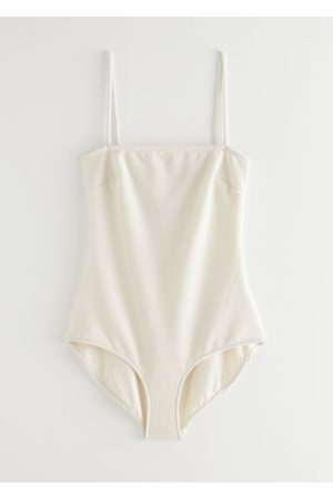 & OTHER STORIES Textured Bandeau Swimsuit