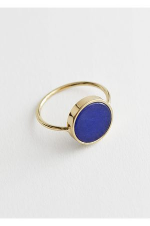 & OTHER STORIES Iridescent Shell Pendant Ring
