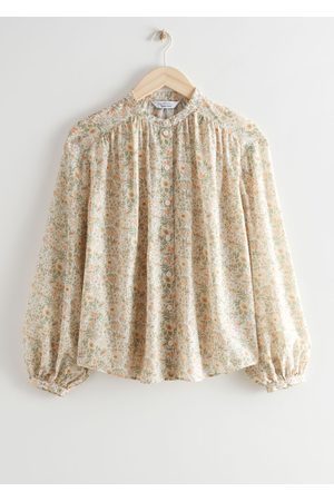 & OTHER STORIES Women Blouses - Floral Print Silk Blend Blouse