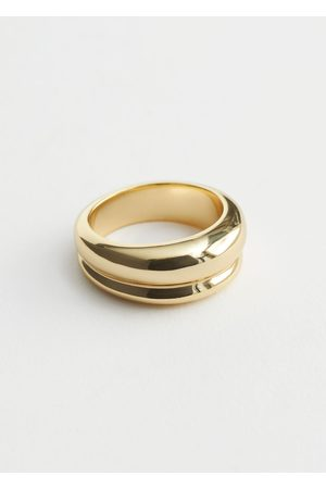 & OTHER STORIES Women Rings - Embossed Curve Ring