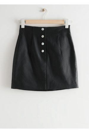 & OTHER STORIES Women Mini Skirts - Fitted Tailored Linen Mini Skirt