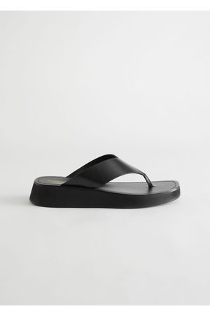 & OTHER STORIES Leather Thong Strap Sandals