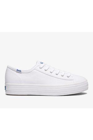 Keds Women Platform Sneakers - Triple Kick Feat. Organic Cotton , Size 5.5m Women's Shoes