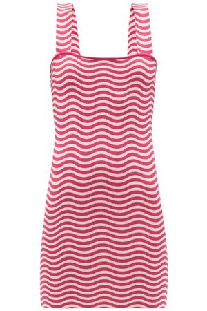 Solid The Ryan Striped Jersey Mini Sundress - Womens