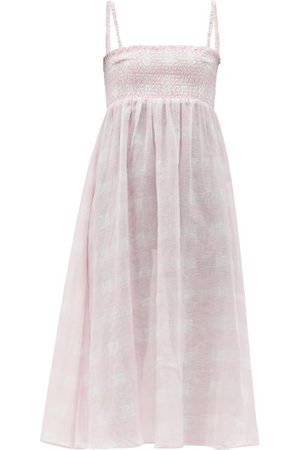 Solid The Willow Smocked Cotton-blend Dress - Womens