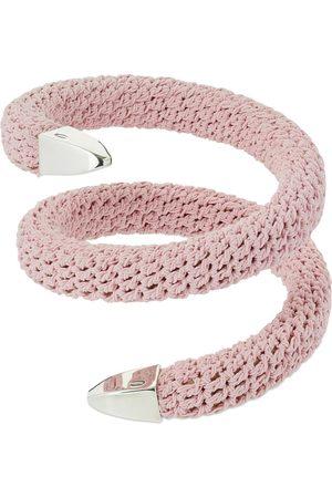 Bottega Veneta Women Bracelets - Twisted Rigid Fabric Bracelet