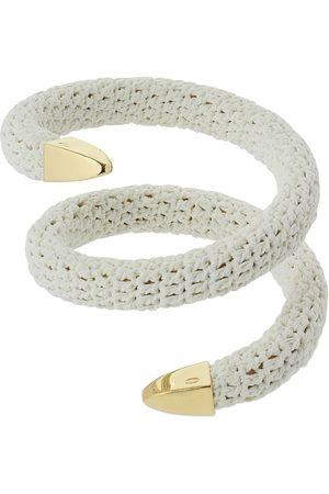 Bottega Veneta Twisted Rigid Fabric Bracelet