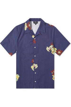 A.P.C. Louis Flower Print Short Sleeve Shirt