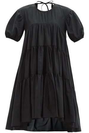 Cecilie Bahnsen Edition Esme Tie-back Tiered Recycled-faille Dress - Womens