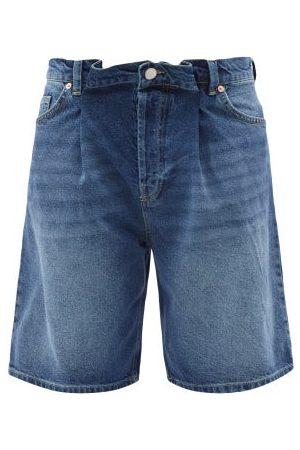 Raey Women Shorts - Board Fold Denim Shorts - Womens - Dark