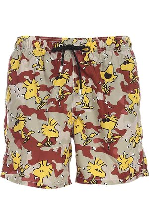 MC2 SAINT BARTH MEN'S GUSTAVIAWODK11 POLYESTER TRUNKS