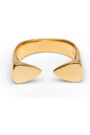 DOMINIC JONES Open 18kt -plated Sterling-silver Ring - Mens