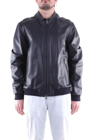 EMANUELE CURCI Leather jackets Men Night